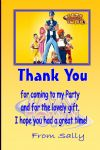 Personalised Lazytown Thank You Cards